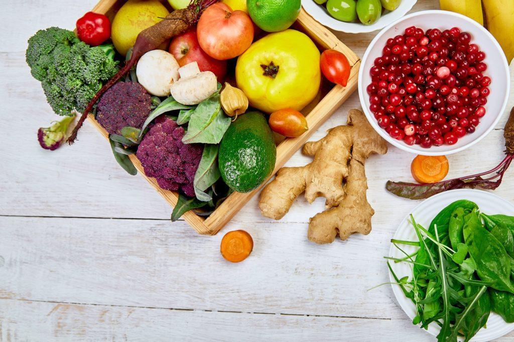Organic food for healthy vegan nutrition. Vegetarian food